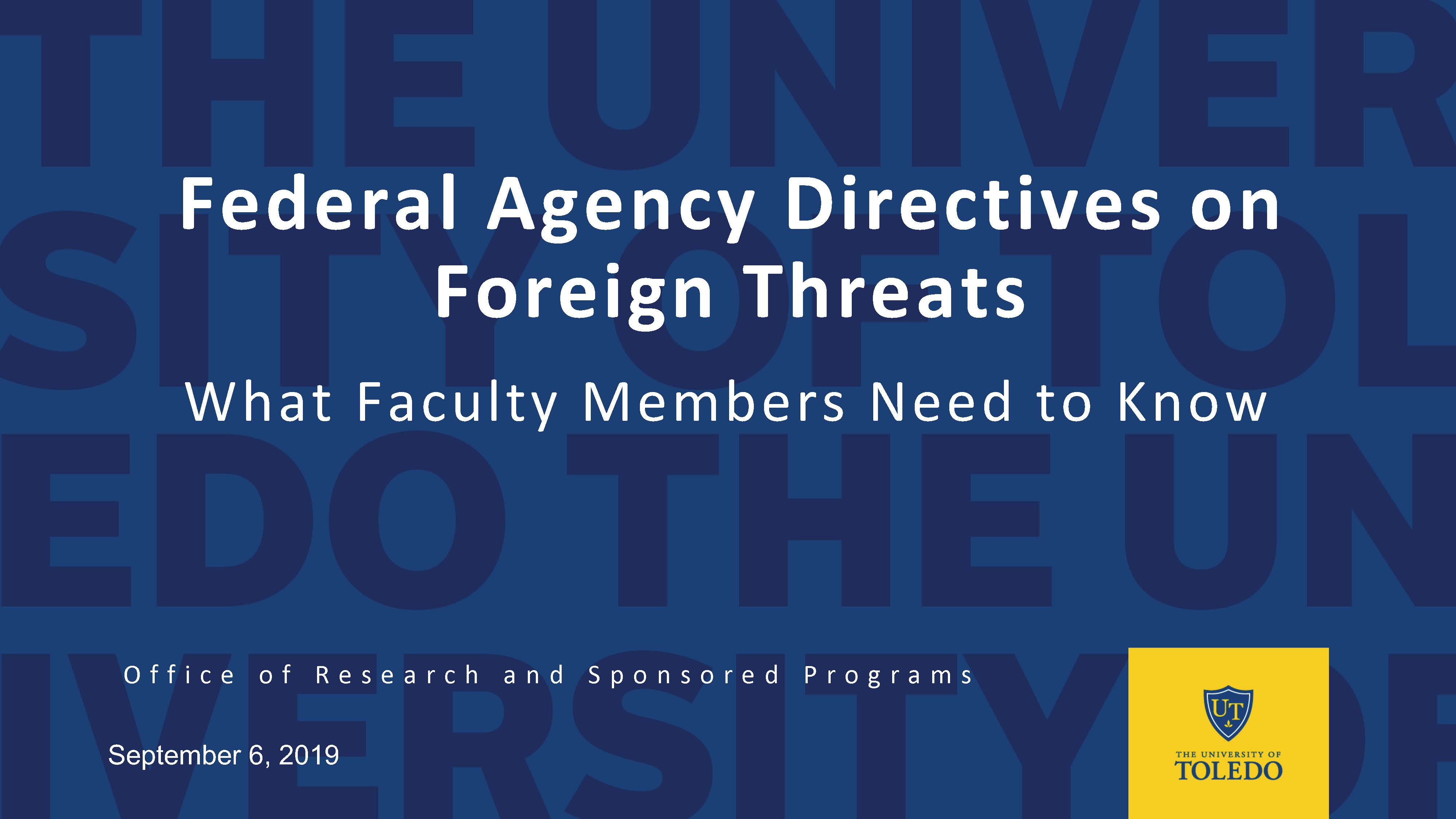 Image for Addressing Foreign Threats PDF Presentation