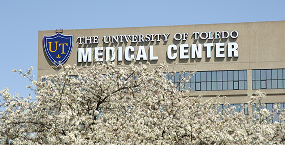 UTMC building in Spring