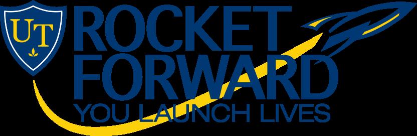 Rocket Forward: You Launch Lives logo