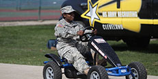 cadet on go cart