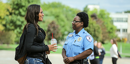 UToledo Police talking to a student
