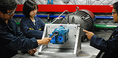 Students Assembling a Motor