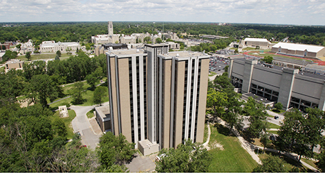 Parks Tower aerial shot