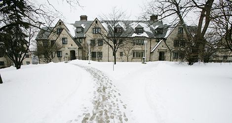 tucker hall in snow