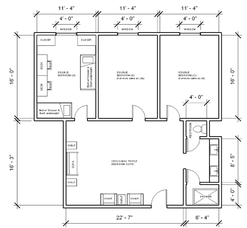 Presidents Hall Layout: room layout design online