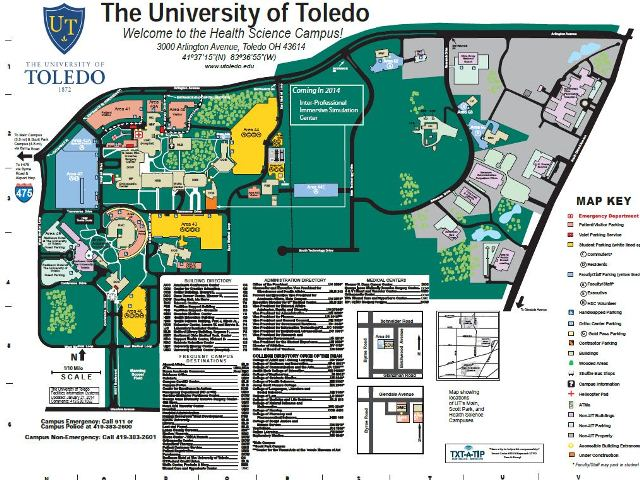 health science campus map image