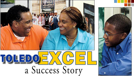TOLEDO EXCEL Founder Dr. Helen Cooks with EXCEL students