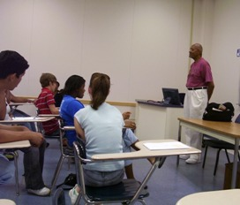 students in math class with UT Professor Dr. William Thomas