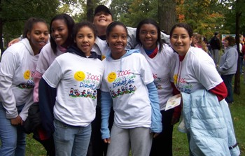 TOLEDO EXCEL students at Walk to Cure Diabetes