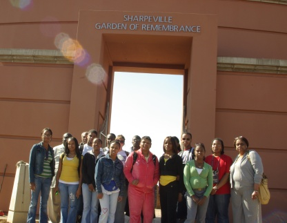 TOLEDO EXCEL Students and Staff at Sharpeville Memorial