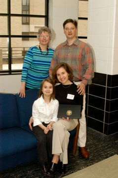 TRIO student with her family