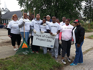 Upward Bound United Way Day of Caring students
