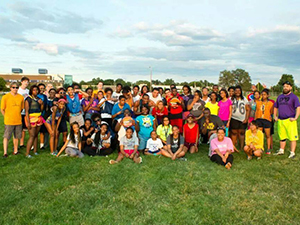 Upward Bound students group picture